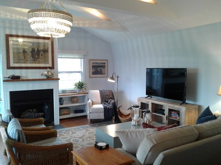 Siasconset Nantucket vacation rental - 2nd floor Great Room with cathedral ceiling.  Lots of space!