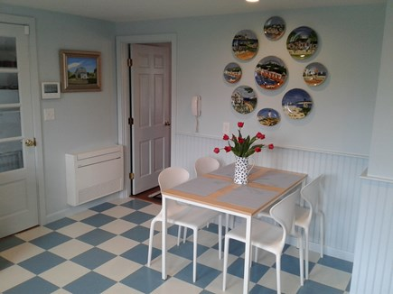 Siasconset Nantucket vacation rental - Casual dining space in large kitchen with pantry.