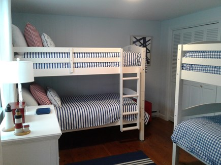 Siasconset Nantucket vacation rental - Beach-y fun Bunk Room with a large closet and dresser.