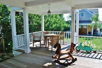 Nantucket town, Nantucket Nantucket vacation rental - 2nd outdoor dining + rocker