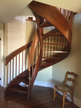 Brant Point Nantucket vacation rental - Spiral Staircase to Third Floor Bedroom Suite