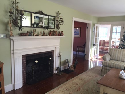 Brant Point Nantucket vacation rental - Living Room with adjoining Sunroom.