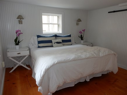 Nantucket town, Nantucket Nantucket vacation rental - Lower Level Master bedroom with king bed and en suite bathroom
