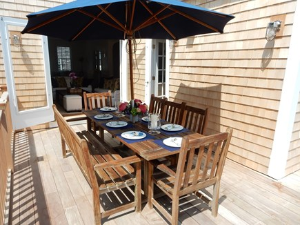 Nantucket town, Nantucket Nantucket vacation rental - Back deck with dining area