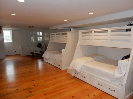 Nantucket town, Nantucket Nantucket vacation rental - Lower level bedroom with 2 bunkbeds twin over full, a trundle bed