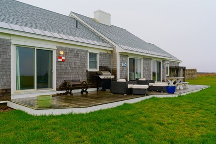 Nantucket town Nantucket vacation rental - Backyard lounge area