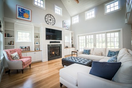 Surfside, Nantucket Nantucket vacation rental - Bright, spacious living area with vaulted ceilings