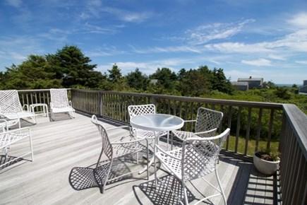 Surfside Nantucket vacation rental - Upper deck accessible from LR and DR thru sliders, ocean views