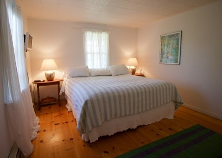 Surfside Nantucket vacation rental - Master with new king bed an beautiful en suite tile bath