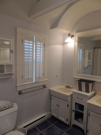 Monomoy Nantucket vacation rental - Master Bath; double sink and tub/shower. 2nd bath w/ stall shower