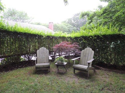 Monomoy Nantucket vacation rental - Sitting area in front yard