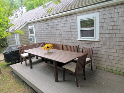 Monomoy Nantucket vacation rental - Great outdoor dining area. Gas grill