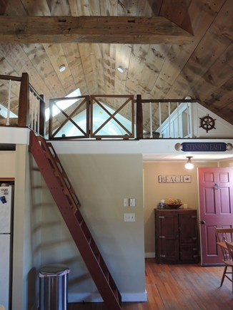 Monomoy Nantucket vacation rental - Ship's ladder to loft