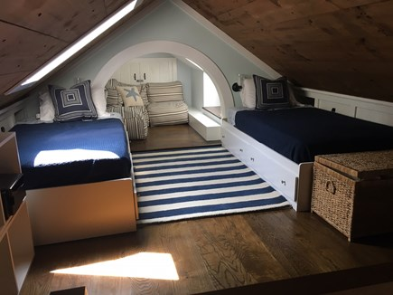 Monomoy Nantucket vacation rental - Twin beds in the loft area, accessible by ship's ladder.