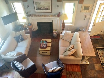 Monomoy Nantucket vacation rental - View of Living Room from the loft