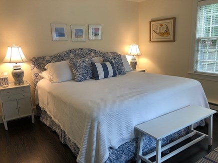 Mid-island Nantucket vacation rental - Master Bedroom on first floor