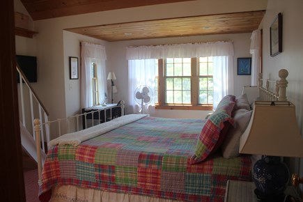 Madaket Nantucket vacation rental - The master bedroom is spacious and inviting with lots of windows.