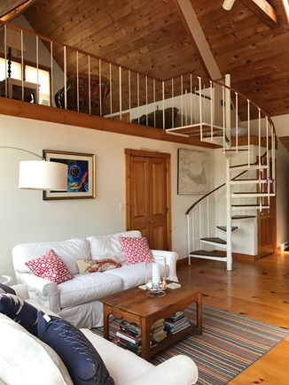Madaket Nantucket vacation rental - Spiral staircase leads to loft, perfect for kids.