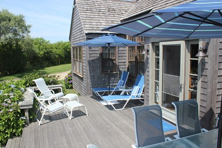 Madaket Nantucket vacation rental - Enjoy the fresh, salty Nantucket air on the wide front deck
