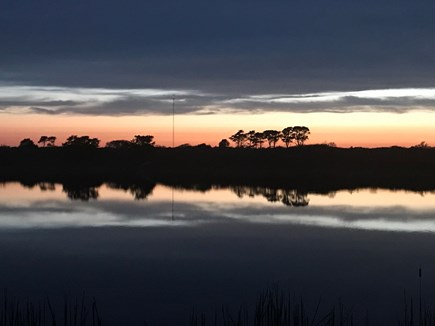 Cisco - Miacomet Nantucket vacation rental - Sunset over the pond, view from the house.