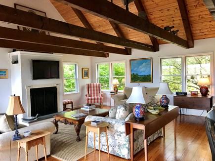 Madaket Nantucket Nantucket vacation rental - Livingroom, fireplace, flat screen