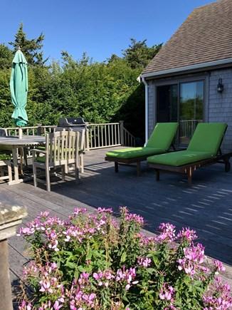 Madaket Nantucket Nantucket vacation rental - Four deck loungers, dining set, gas grill