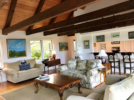 Madaket Nantucket Nantucket vacation rental - Living room with sliders to rear deck