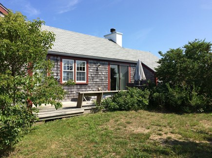 Madaket, 738 Nantucket vacation rental - Enjoy the big back deck with charcoal grill and outdoor shower