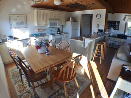 Madaket Nantucket vacation rental - Dining and kitchen area