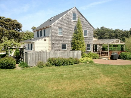 Surfside, Nantucket Nantucket vacation rental - Side yard with lots of room for kids games and 2 outdoor showers!
