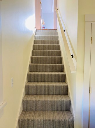 Nantucket Town  Nantucket vacation rental - Stairs to second floor with new carpet
