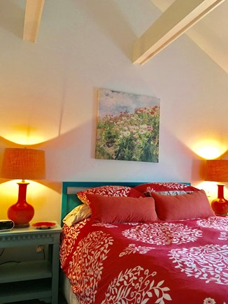 Nantucket Town  Nantucket vacation rental - Bright queen bedroom with flat screen TV & large closet