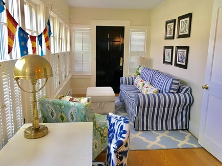 Nantucket Town, Orange Street Nantucket vacation rental - Sunroom with wrap around windows overlooking Orange Street