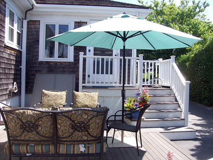 Nantucket Town, Orange Street Nantucket vacation rental - Large and Sunny Furnished Deck