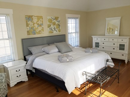 Mid-island, Nantucket Nantucket vacation rental - Master bedroom with king bed and ensuite bathroom