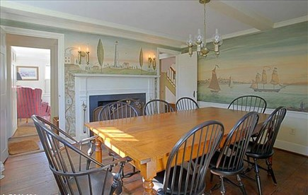 Nantucket town Nantucket vacation rental - Dining room seats 8, with fireplace
