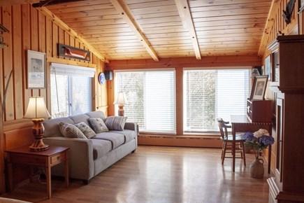 Nantucket town Nantucket vacation rental - Queen Sleeper Sofa with desk area