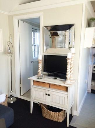 Nantucket town, Nantucket Nantucket vacation rental - TV and entrance to the bathroom