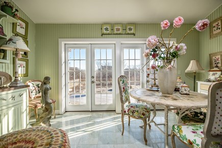 Tom Nevers Nantucket vacation rental - Garden Room with two French doors that lead outside to a Garden
