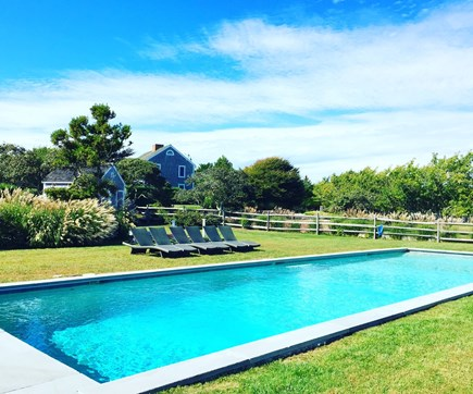 Madequecham Nantucket vacation rental - Fantastic private 60 foot heated saltwater pool