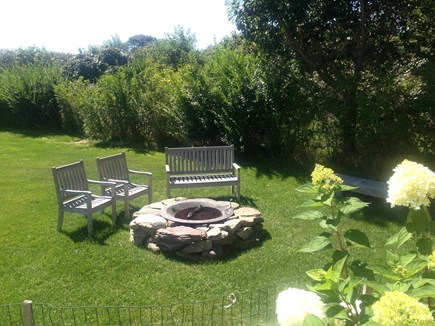 Madequecham Nantucket vacation rental - Outdoor firepit-perfect for summer evenings roasting marshmellows