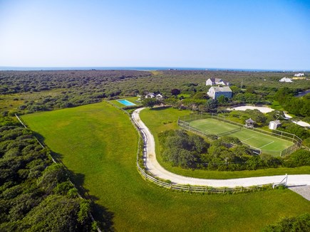 Madequecham Nantucket vacation rental - Aerial view of the property