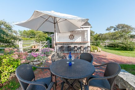 Madequecham Nantucket vacation rental - One of several areas to dine outdoors
