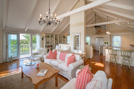 Madequecham Nantucket vacation rental - LR with comfy slipcovered sofas for conversation,TV, game night