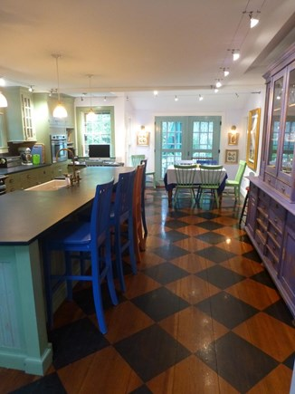 Nantucket town, In Town Nantucket vacation rental - Main house kitchen and breakfast areas