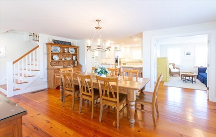 Cisco - Miacomet Nantucket vacation rental - Dining for 8 off kitchen and a cozy glassed in den