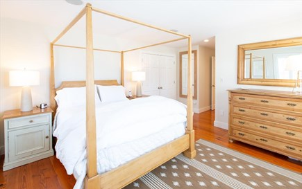 Cisco - Miacomet Nantucket vacation rental - Master bedroom on 1st floor.  Resort quality linens throughout.