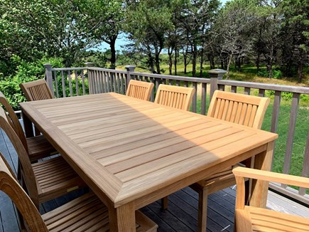 Madaket, Nantucket Nantucket vacation rental - One of two decks with outdoor dining, access to yard.
