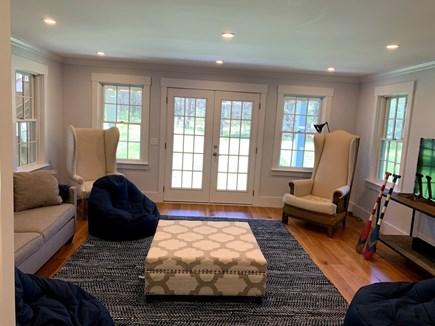 Madaket, Nantucket Nantucket vacation rental - First floor den with access to the backyard.
