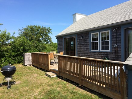 Madaket Nantucket vacation rental - Back deck and charcoal grill